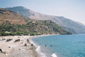 Sougia - pláž