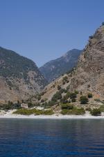 Městečko Agia Roumeli - pobřeží